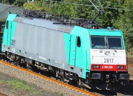 Electroloc Traxx NMBS 2817 front E 186 209 versie met 3 zijpanelen