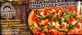 Pizza alla pala Mozzarella, Rucola e Cubetti al pomodoro - 225g