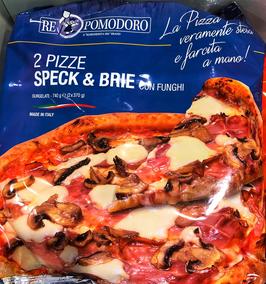2 Pizza Speck & Brie con funghi -740gr (2 x 370gr)