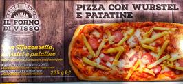 Pizza alla pala con Mozzarella Wurstel e Patatine - 235g