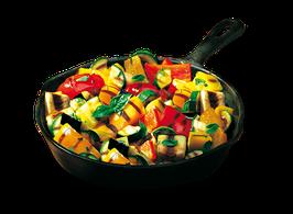Contorno Ghiotto - Mix di Peperoni, Zucchine, Melanzane e Cipolle grigliati - gr 500