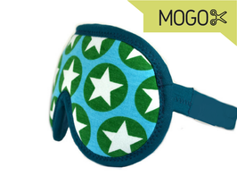 Schlafbrille grüne Sterne