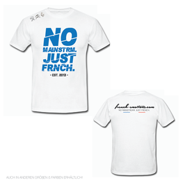 FE OFFICIAL Shirt - V2 CUTTED / WHITE.BLUE
