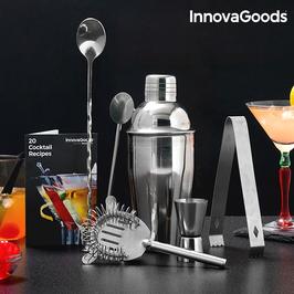 InnovaGoods Cocktail Set mit Rezeptbuch (6-teilig)