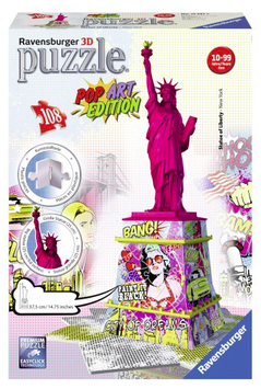 Puzzel Statue of Liberty POP ART edition 3d: 108 stukjes