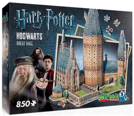 Puzzel Wrebbit Harry Potter Hall 3d: 850 stukjes