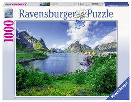 Puzzel Lofoten Harbour: 1000 stukjes
