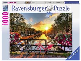 Puzzel Fietsen in Amsterdam: 1000 stukjes