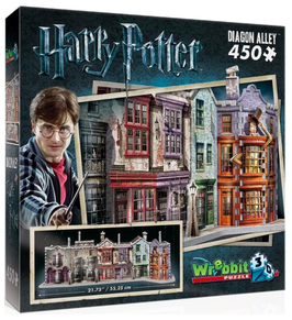Puzzel Wrebbit Harry Potter Alley 3d: 450 stukjes