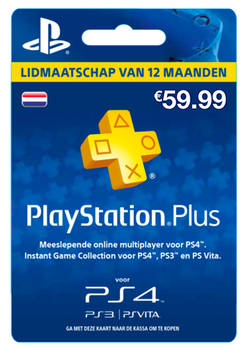 Playstation Plus Lidmaatschap 12 maanden €59,99