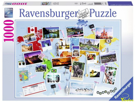 Puzzel Reis om de wereld: 1000 stukjes
