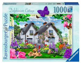 Puzzel Delphinium Cottage: 1000 stukjes