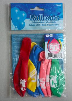 Ballonnen leeftijd '50 Sarah', 8x 30 cm