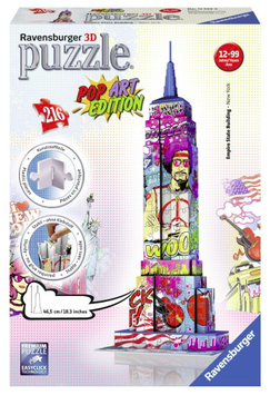 Puzzel Empire State Building POP ART edition 3d: 216 stukjes