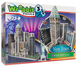 Puzzel: Wrebbit Financial New York 3d: 925 stukjes