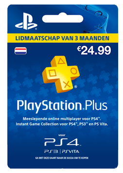 Playstation Plus Lidmaatschap 3 maanden €24,99
