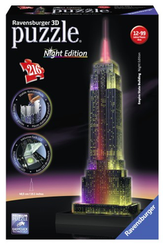 Puzzel Empire State Building NIGHT EDITION 3d: 216 stukjes