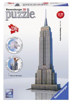 Puzzel Empire State Building 3d: 216 stukjes