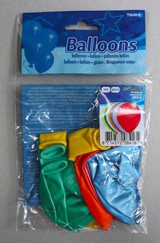 Ballonnen blanco in kleur metallica, 10x 30 cm