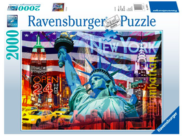 Puzzel New York Collage: 2000 stukjes
