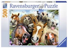Puzzel Paardenselfie: 500 stukjes