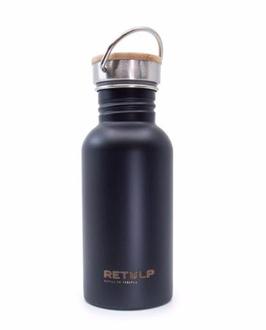 Retulp Urban 500 ml (enkelwandige, stalen drinkfles) - Zwart