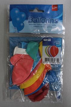 Ballonnen blanco in kleur, 10x 30 cm