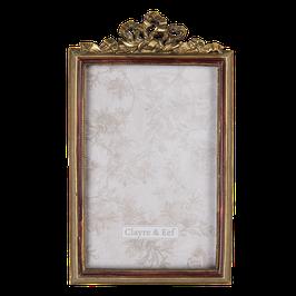 Bilderrahmen Fotorahmen 2F0686 Gold D-Rot  12 x 1 x 19 cm / 10 x 15 cm Polyresin/ Glas Clayre & Eef
