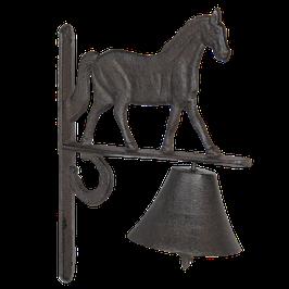 Glocke Klingel Pferd 20 x 11 x 27 Gusseisen Clayre & Eef