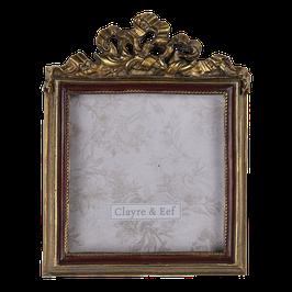 Bilderrahmen Fotorahmen 2F0685  Gold D-Rot  9 x 1 x 11 cm / 7 x 7 cm Polyresin/ Glas Clayre & Eef