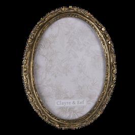 Bilderrahmen Fotorahmen 2F0683 Oval Gold 15 x 2 x 20/ 13 x 18 Polyresin Glas Clayre & Eef