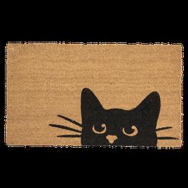 Fußmatte Türmatte Katze Braun Kokos PVC 75 x 45 x 1 cm Clayre & Eef