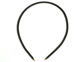 Collier Stahlkordel schwarz
