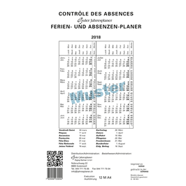 Calendrier annuel | Jahresplaner A4