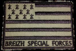 ÉCUSSON BREIZH SPÉCIAL FORCES B.V KAKI