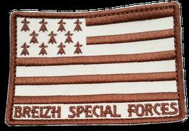 """ÉCUSSON BREIZH SPÉCIAL FORCES """"désert"""""""