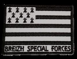 ÉCUSSON BREIZH SPÉCIAL FORCES BLANC ET NOIR