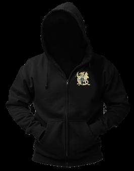 Sweat-shirt veste capuche noir broderie LOGO 1 RPIMa