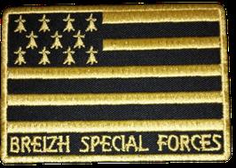 ÉCUSSON BREIZH SPÉCIAL FORCES NOIR ET OR