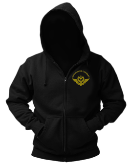 Sweat-shirt veste capuche noir broderie LOGO NAGEUR DE COMBAT