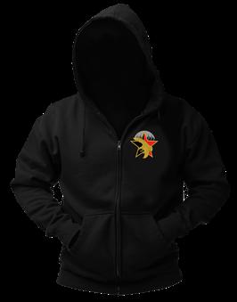 Sweat-shirt veste capuche noir broderie LOGO SERVICE ACTION DGSE