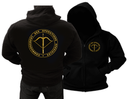 VESTE SWEAT CAPUCHE COLLECTOR  C.O.S FORCES SPECIALES FRANCE