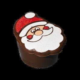 Apfel Calvados Praline mit Weihnachtsmann