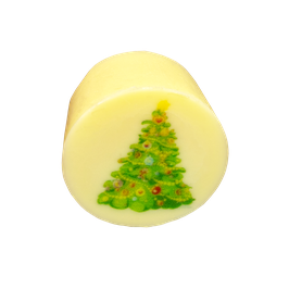 Vanille Töpfchen mit Weihnachtsbaum
