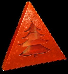 Geschenkpackung Weihnachtsbaum Rot