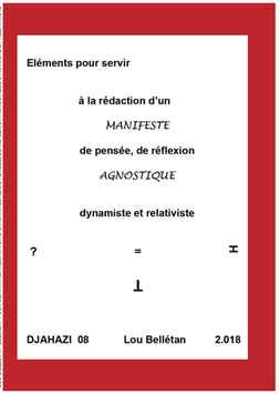Djahazi-08 MANIFESTE AGNOSTIQUE