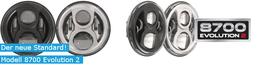 """MAX-JWSPEAKER Evolution II Hauptscheinwerfer für Touringmodelle 7"""" Schwarz oder Chrom incl. Montagering"""