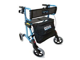 Rollator Diamond - blau metallic