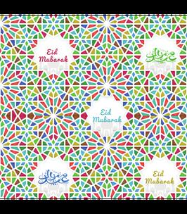 Cadeaupapier Eid Mubarak Mozaiek