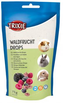 TRIXIE Waldfrucht Drops, 75 g, für Kaninchen, Kleinnager (100g / 1,45€)